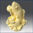 3D silicone Soap/polymer/clay/cold porcelain/candle mold – Lucky Carp with Lotus