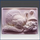 2D silicone Soap/polymer/clay/cold porcelain mold-Turkey n Cornucopia