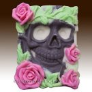 2D silicone Soap/Guest/polymer/clay/cold porcelain mold- Halloween Horror Skelet
