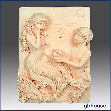 Mermaid Couple - Detail of high relief sculpture - Soap/plaster silicone mold