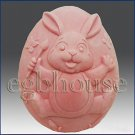 2D silicone Soap/polymer/clay/cold porcelain mold- Bunny Paints The Town