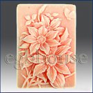2D silicone Soap/polymer/clay/cold porcelain mold – 2D Flower Power