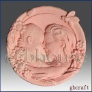 2D silicone Soap/polymer/clay/cold porcelain mold- Mother and Child having Fun