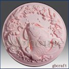 2D silicone Soap/polymer/clay/cold porcelain mold- Good Fortune Leaping Fish