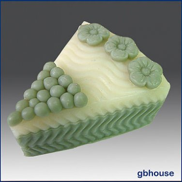 3D silicone Soap/polymer/clay/cold porcelain/candle -Wedding Cake Slice * Flower