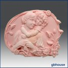 2D silicone Soap/polymer/clay/cold porcelain mold Oval – Child Hugging Mother