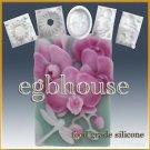 2D silicone Sugar/fondant/chocolate/cookie/cake mold - Orchid