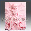 2D silicone Soap/polymer/clay/cold porcelain mold - Fairy11 ~ Flora