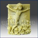 2D silicone Soap/polymer/clay/cold porcelain mold - Aurelia -Fairy of Love