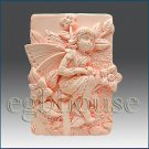 2D silicone Soap/polymer/clay/cold porcelain mold –Savannah: Fairy of Grasslands