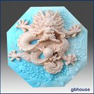 Dragon- Detail of high relief sculpture - Soap/Plaster/Clay silicone mold