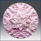2D silicone Soap/polymer/clay/cold porcelain mold- Poinsettia Rosette
