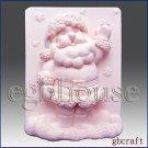 2D Silicone Soap Mold - Snowflake Santa - buy from original designer and maker