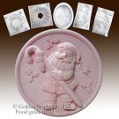 Santa and the Candy Can - silicone Soap/sugar/fondant/chocolate/Marzipan 2D mold