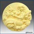 Giselle, Mermaid of the Guitar-Detail of high relief sculpture-Soap silicon Mold