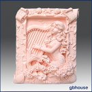 Musical Mermaid-Detail of high relief sculpture - Soap/plaster silicone mold