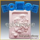 2D Silicone sugar/fondant/chocolate Mold - Mother holding her child in moonlight