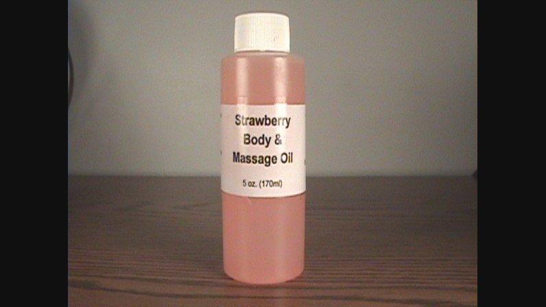 Strawberry Body And Massage Oil- 5 oz.