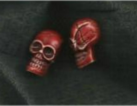 Two Red Skull Beads