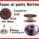 Fix BUTTONS on YOUR Jeans, Vest, OVERALLS w/BiB Rivets