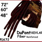 "1pair 72"" Round ~ Dark Brown Kevlar Work Boot Hiking Laces ~ Shoe lace TUFF LACE"