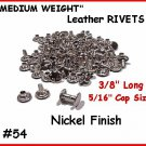 NOT China ~ Nickel RIVETS work for LEATHER Cases, Belts