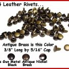 #54 Ant.Brass Medium weight RIVETS for LEATHER