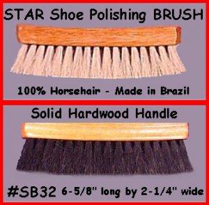 NET 100% Horsehair Shine Polishing Brush for Shoes Boot