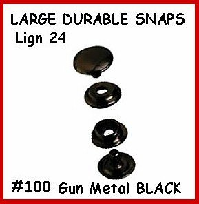 20 Sets GunMetalBlack LEATHER Canvas SNAP No TOOLS