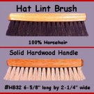 BLACK 100% HORSE Hair Western HAT Lint Brush Remover!