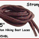 "2pr STRONG Brown Nylon 45"" HIKING Boot Laces FREE SHIP!"