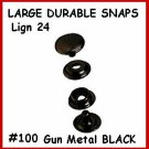 Quality GunMetalBlack LEATHER Canvas SNAP Fastener KIT