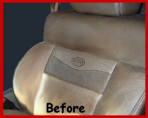 LEATHER Refinish an Aid to RESTORER Color to Car Seats
