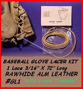 RED - BASEBALL GLOVE LACE REPAIR kit  laces FREEShip