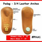 Ladys #36 Pedaq Arch Shoe Insole 3/4 Arches Leather TOP
