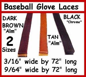30 Black BASEBALL GLOVE Repair Leather laces 3/16 X 72
