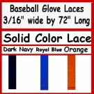 "2 Blue BASEBALL GLOVE Repair Leather laces 3/16"" X 72"""