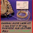 Pearl White BASEBALL GLOVE LACE REPAIR kit lace FREShip