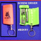 Lime Screw Driver  Multi Tips Tool in it's Box KEY RING