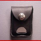 Made in USA BLK. Cigarette Leather Skull Lighter Case