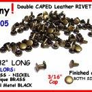 Quality! Gun Metal Black TINY RIVETS LEATHER DECORATING