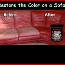 Med. Brown -Cleaner, Applicator & LEATHER Refinish Aid RESTORERS Color to Sofas
