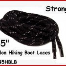 "3pr STRONG BLACK Nylon 45"" HIKING Boot Laces FREE SHIP!"