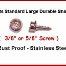 "50 parts 3/8"" SCREW STUDS Heavy Duty Snaps TARP CANVAS"