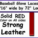 """10 RED BASEBALL GLOVE Repair Leather laces 3/16"""" X 72"""""""