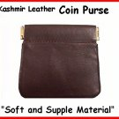 BROWN Kashmir Leather ~ Squeeze IT Frame ~ COIN PURSE