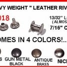 Quality! GunMetalBLACK  #1018 Heavy RIVETS for LEATHER