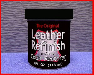 Dark Green LEATHER Refinish an Aid to Color RESTORER