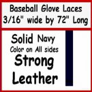 "2 NAVY BASEBALL GLOVE Repair Leather laces 3/16"" X 72"""