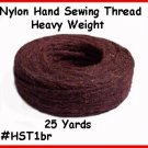 BROWN - Heavy Nylon ~ Hand Sewing Leather Thread